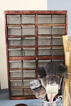 Galvanized drawers