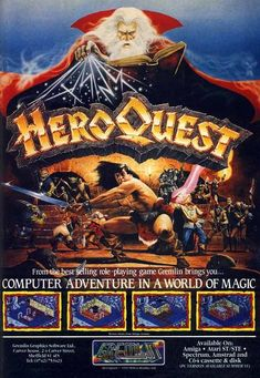 HeroQuest Board Complete Replacement Hero Quest RPG Boardgame Excellent Cond.