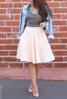 midi circle skirt!! adore this color!