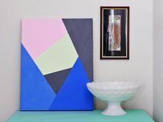 Moderne Kunst selber machen - Bastelidee