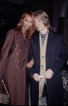 Model Iman and husband musician David Bowie 13th March 2000 News Photo 116746624