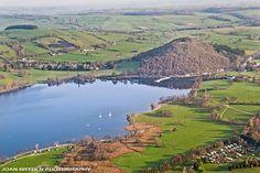 Pooley Bridge aerial view, Lake District, Cumbria, England
