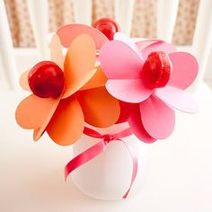 Cute lolly flowers, perfect for Valentine's Day!