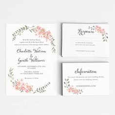 See lauren conrad and william tells wedding album pinterest botanical wedding invitation suite wedding invitation printable invitation set wedding invitation stopboris Gallery