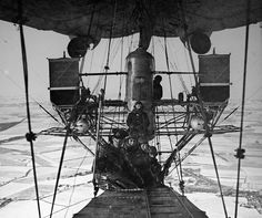 Airships rank high on the list of things that have prompted me into mechanical engineering.  This picture shows the openness that I love so much about airships, and aviation in general.
