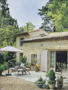 Rustic French Farmhouse stone exterior and courtyard. Rustic French Farmhouse stone exterior and courtyard. Country Stil, Rustic French Country, Estilo Country, French Country House, Country Homes, French Country Gardens, Southern Homes, Italian Country Decor, French Country Exterior