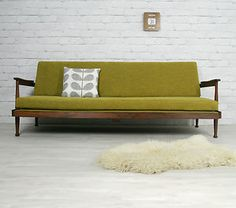 GUY ROGERS RETRO VINTAGE MID CENTURY DANISH STYLE SOFA SOFABED DAYBED 1950s 60s---lol,this is in our office!