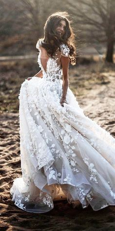 10 Wedding Dress Designers You Want To Know About ❤ wedding dress designers a line with cape sleeves floral appliques berta Boho Wedding Dress With Sleeves, Perfect Wedding Dress, Dream Wedding Dresses, Designer Wedding Dresses, Bridal Dresses, Wedding Dress Top, Wedding Dresses Berta, Floral Wedding Dresses, Italian Wedding Dresses