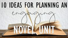 10 ideas for planning engaging novel units: creative, engaging lesson ideas for your next whole-class novel unit Middle School Literature, Middle School Reading, Middle School English, 4th Grade Reading, English Classroom, Ela Classroom, Classroom Resources, Future Classroom, Classroom Ideas
