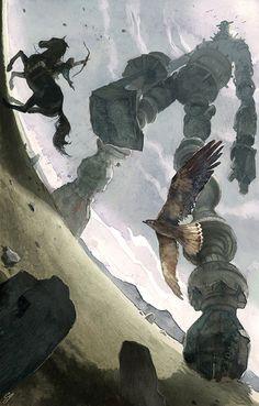 Shadows of the Colossus fan art by Chad Gowey. // www.chadgowey.com