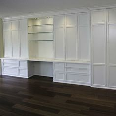 like with 2 cabinets on left as drawers and drawers on right as 2 door cabinet