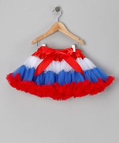 Take a look at this Red & White Patriotic Pettiskirt - Infant, Toddler & Girls by Just For Girls on #zulily today!