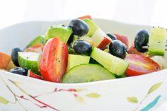Pear, Blueberry, Cucumber, Tomato Fruit Salad (Gluten & Dairy Free)