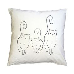 Pillow Decor Silhouette Cats 16x16 Throw Pillow ($40) ❤ liked on Polyvore