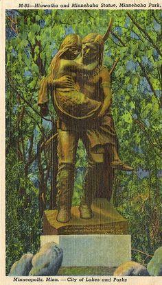 Hiawatha and Minnehaha Statue, Minnehaha Park by Stuff about Minneapolis, via Flickr