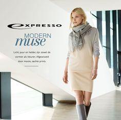 """""""Modern Muse"""" de nieuwe herfst 2015 collectie van Expresso met invloeden vanuit Scandinavië in heldere en lichte kleuren, nude en helder blauw worden afgewisseld met grijstinten. MEER http://www.pops-fashion.com/?p=23239"""