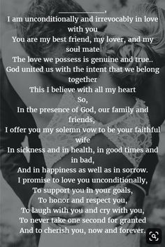 22 Examples About How to Write Personalized Wedding Vows - Quotes - Romantic Wedding Vows, Wedding Vows To Husband, Romantic Quotes, Dream Wedding, Wedding Rustic, Fall Wedding, Wedding Ceremony, Wedding Venues, Trendy Wedding