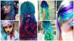Resultado de imagem para cabelos coloridos