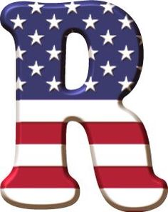 USA R Alphabet Letters Design, Alphabet And Numbers, Monogram Alphabet, Lettering Design, Hand Lettering, Scrapbook Letters, Banner Letters, American Flag Crafts, Captain America Party