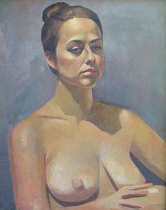 "Portrait of a young woman. size 16""x20"" Oil on canvas. Artist: Tatyana Holodnova"