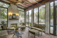 sunroom with fireplace. Sea Island Escape  Photos House of the Day sunroom with fireplaces fireplace Sunroom Addition