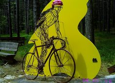 wired bicycle, amazing!!!  #metalwork  www.travers.com
