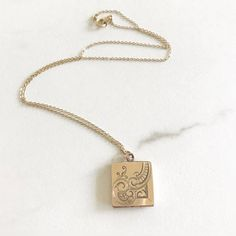 Antique gold fill locket. Aesthetic locket. Rose gold locket.