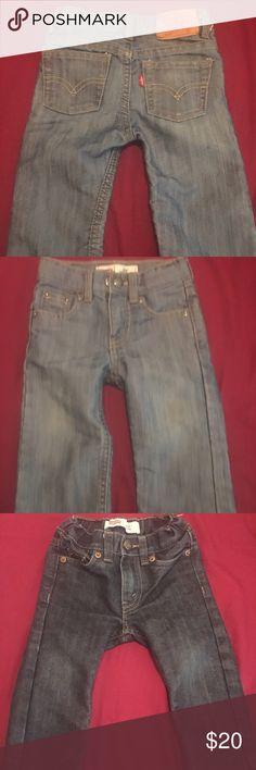 Levi jeans bundle for boys 💙💙 Excellent condition Levi jeans for infant. Very light wear. Dark denim and silver finish denim levis Bottoms Jeans