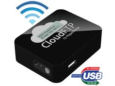 CloudFTP is a pocket size adapter that can turn any USB storage device into a wireless file server, sharing files with WiFi-enabled devices (iPad, iPhone, computer etc.). It can also automatically connect to the Internet to backup and synchronize your USB data with popular online Cloud storage services like iCloud, Dropbox and box.net.
