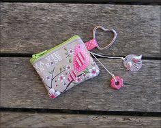 Porte clés - mini porte monnaie à message  Ma vie en rose