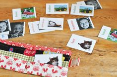 wallet with pic cards for matching