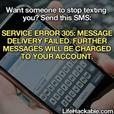 Stop people from texting you