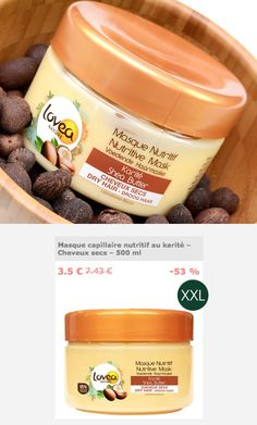 Prenez soins de vos cheveux 👩 ! Profitez de -53% sur notre masque capillaire au Karité en BIG format. 500 ml de nutrition pour démêler et adoucir vos cheveux. Vos soins cheveux, corps et visages sont en promo chez Beauté Privée. 1 ... 2 ... 3 => 👉 GO GO GO