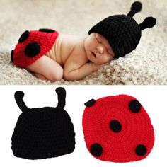 Newborn Baby Crochet Knit Photo Photography Prop Costume