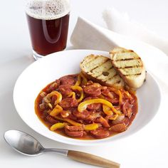"""Hungarian Sausage Stew with Ale 