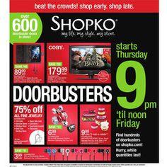 SHOPKO BLACK FRIDAY AD 2012