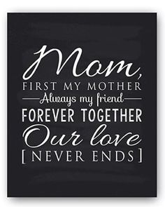 Mom Poem Chalkboard Print