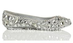 BS275 hotsale flat bridal crystals shoes wedding shoes