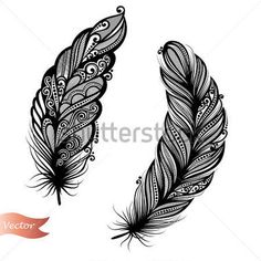 feather bead tattoo - Google Search