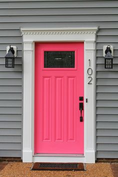 Amazing Pink Front Door | Bake. Create. Love.
