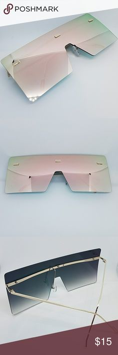 Oversize Sunglasses ⚬ Prices are firm unless you bundle items together. Bundle your favorite shades and we will send you a private offer.  ⚬ All orders ship within 24 hours Monday - Friday. Orders placed on weekends/holidays ship next business day.  ■ Rose Gold Lenses | Gold Frame  ■ 100% UV Protection  ■ High Quality  ■ Women Fashion   Follow us on Instagram: @officialsavagegangshades_ and tag us with your shades on 😎 Accessories Sunglasses
