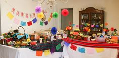 Fiesta Themed Buffet. We did a soft taco bar with lots of fixins!