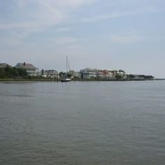Photo of Outer Banks Ferry Service - Beaufort, NC, United States. houses along Beaufort waterfront
