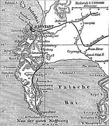 An map of Cape Town. History of Cape Town - Wikipedia, the free encyclopedia Cape Town, Family History, Planer, South Africa, Map, Genealogy, Free, Location Map, Maps