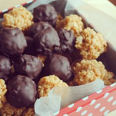 Peanut Butter Rice Krispies balls YUM