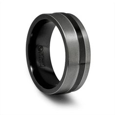 Possible wedding band?  Black Titanium.  $195.
