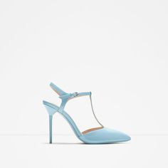 Image 1 of HIGH-HEEL MULES WITH ANKLE STRAP from Zara