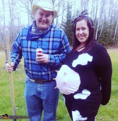 Maternity Cow & Farmer - 2012 Halloween Costume Contest