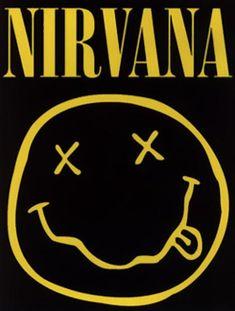 Nirvana Smiley Face Music Poster Print Kurt Cobain Logo, New, Nirvana Logo, Nirvana Lyrics, Nirvana Band, Kurt Cobain, Custom Screen Printing, Rock Posters, Art Posters, Band Logos, Classic Rock