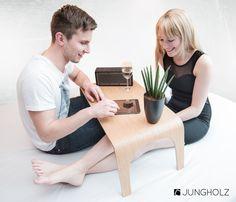 JUNGHOLZ // #wood #EDC #Table // #walnut #home #Interior #beistelltisch #jungholz #design #table #wood #furniture